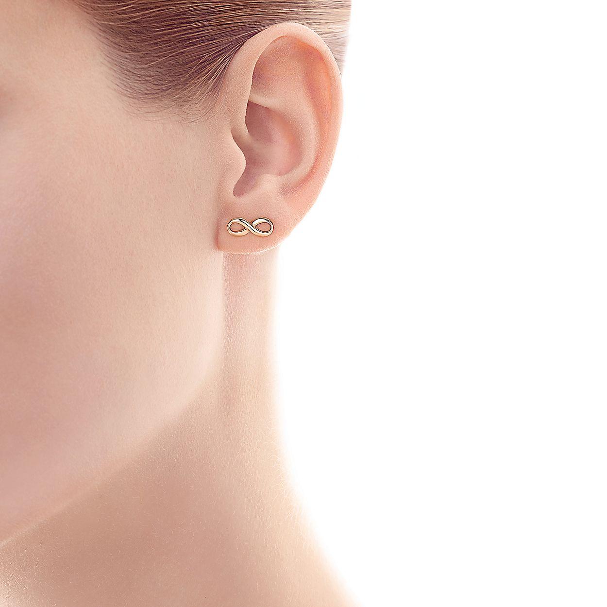 7cc4ec51b Tiffany Infinity earrings in 18k rose gold. | Tiffany & Co.