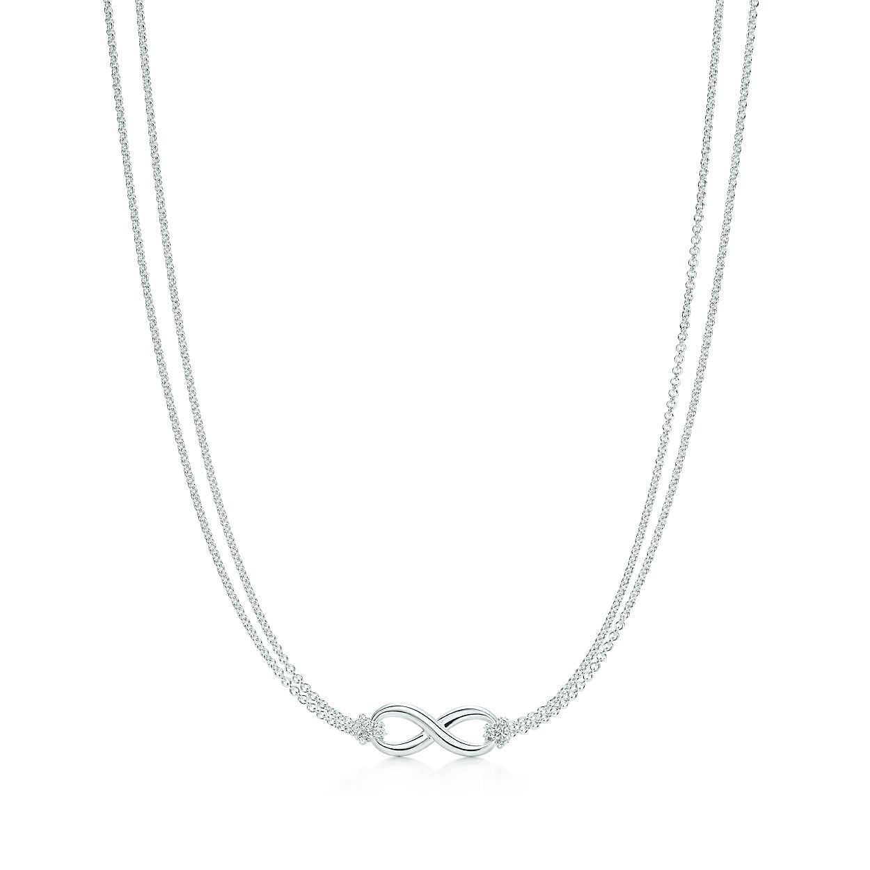 ed51bd603 Tiffany Infinity pendant in sterling silver on a 18