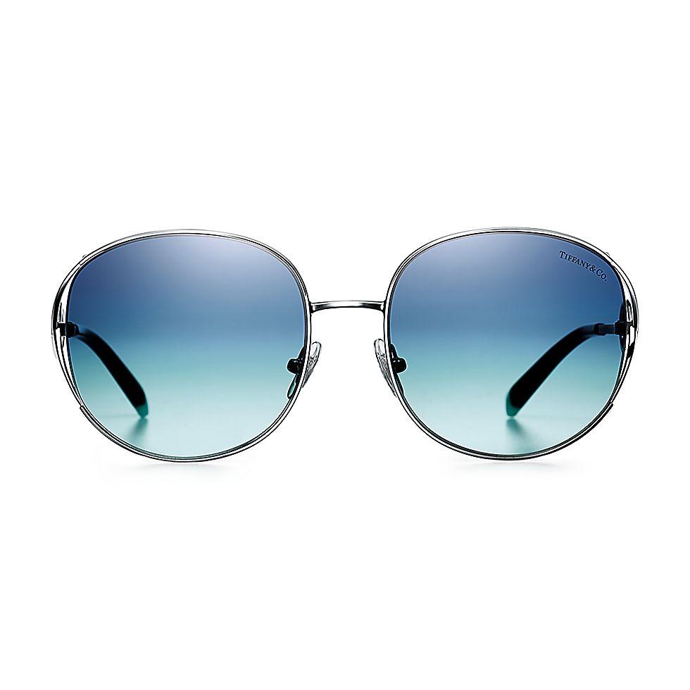 db43ead7934e Tiffany Infinity rectangular sunglasses in silver-colored metal ...