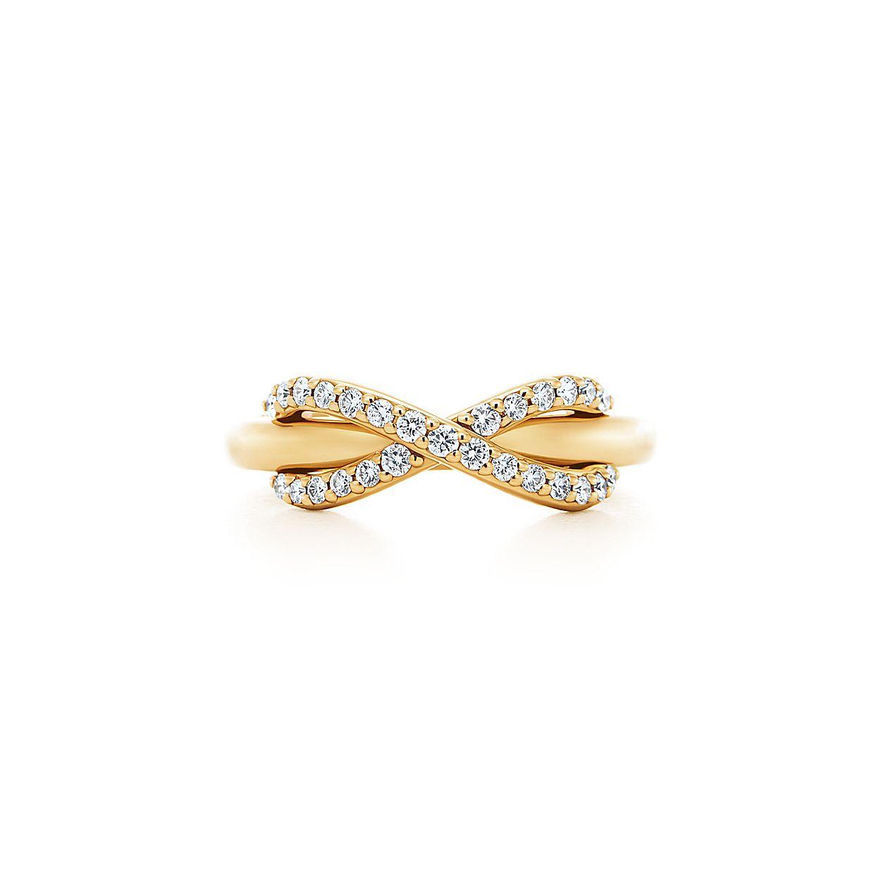 4f54075496865 Tiffany Infinity 18k gold ring with diamonds | Tiffany & Co.