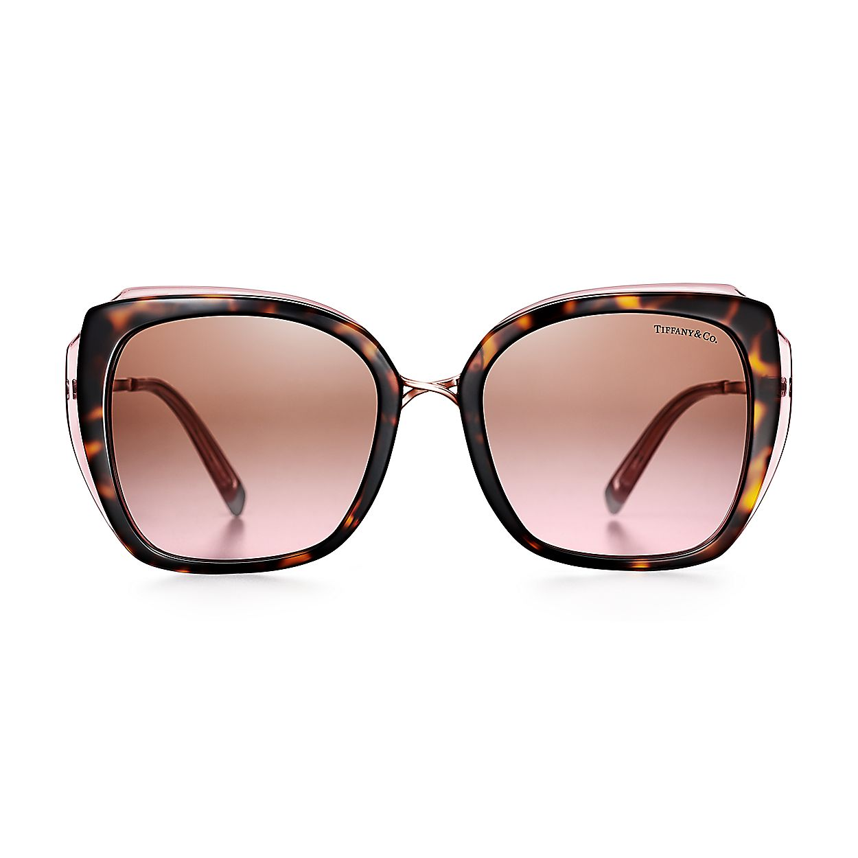 2bd2d7b035c8 Tiffany Infinity square sunglasses in tortoise and light pink ...