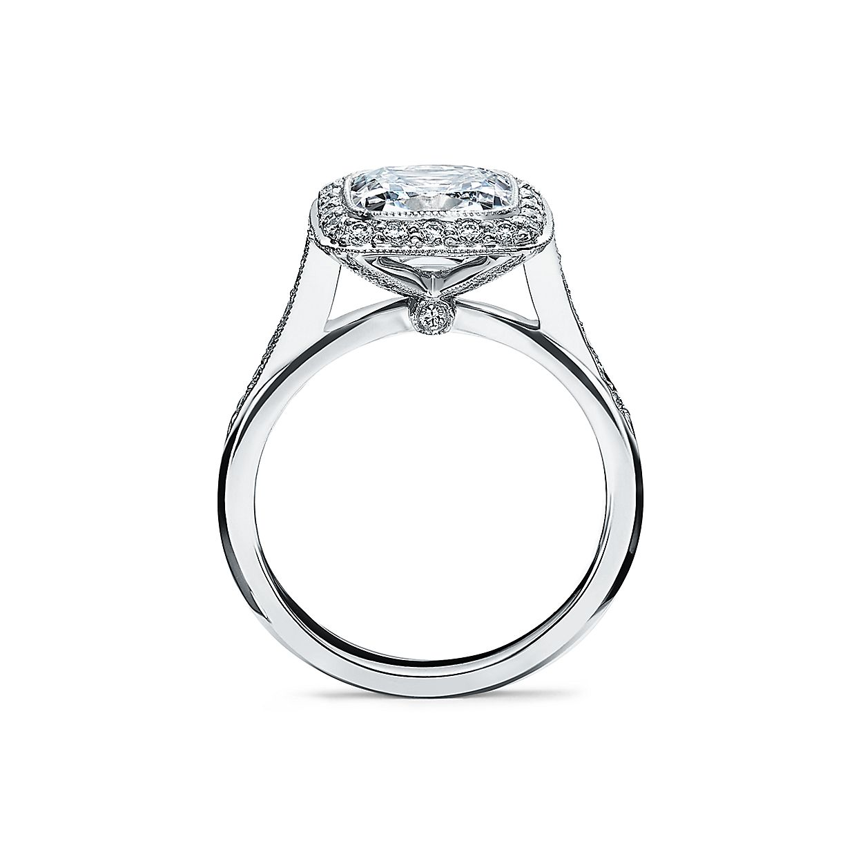 fac654ebe Tiffany Legacy™ Engagement Ring with a Diamond Band in Platinum