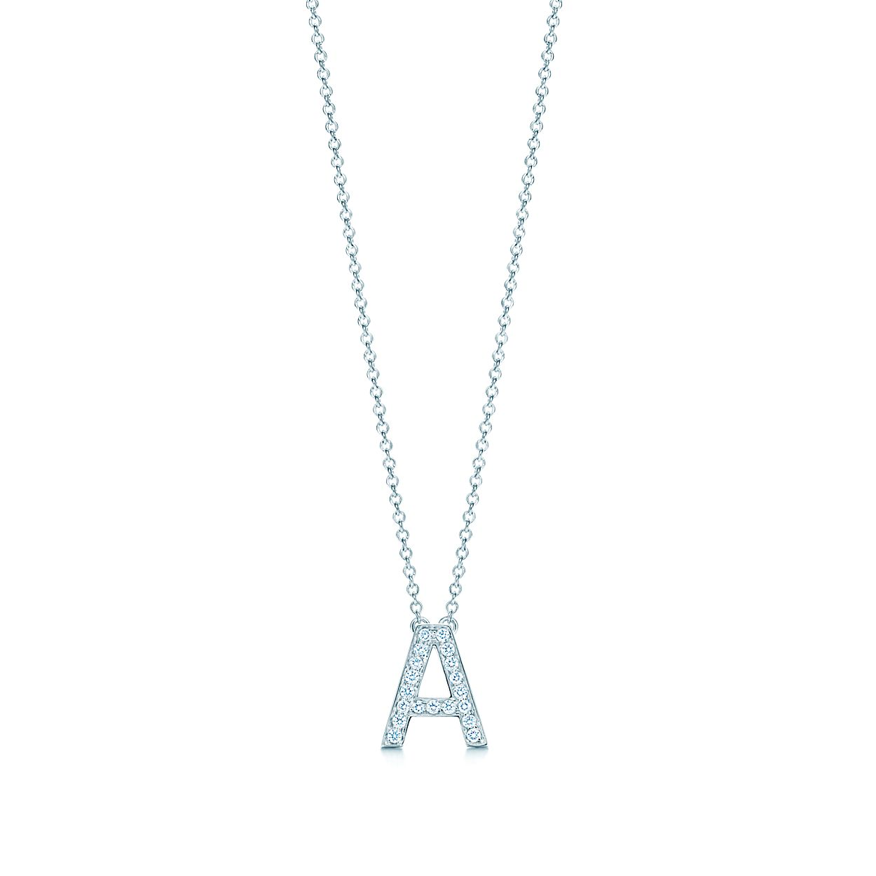 389ba22b6 Tiffany Letters pendant of diamonds in platinum, mini. Letters A-Z ...