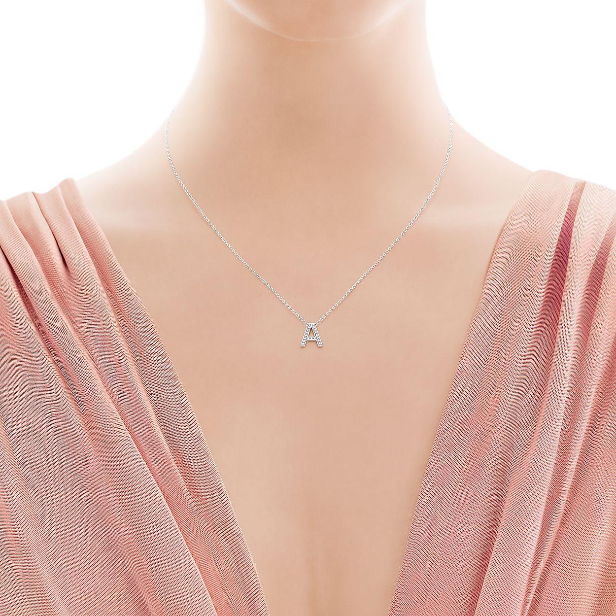 c664d8deb Tiffany Letters pendant of diamonds in platinum, mini. Letters A-Z ...