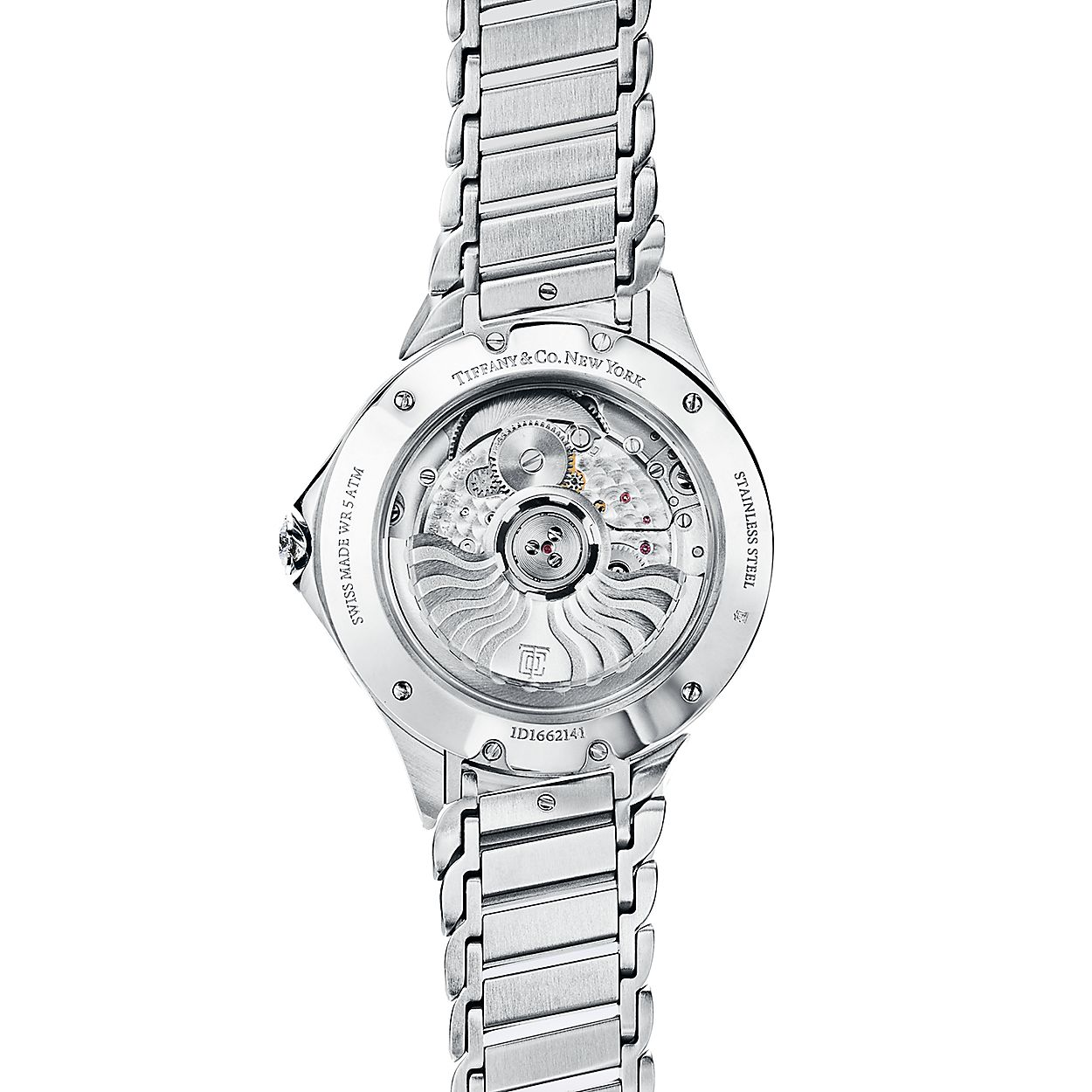 a013a05809cc Tiffany Metro 3-Hand 34 mm watch in stainless steel with diamonds ...