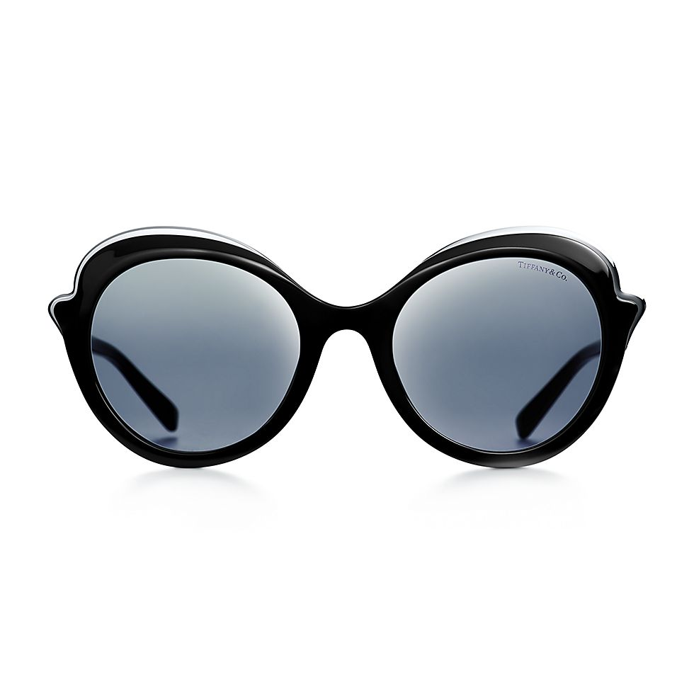 ea6c987a9184 Tiffany Paper Flowers cat eye sunglasses in black acetate.