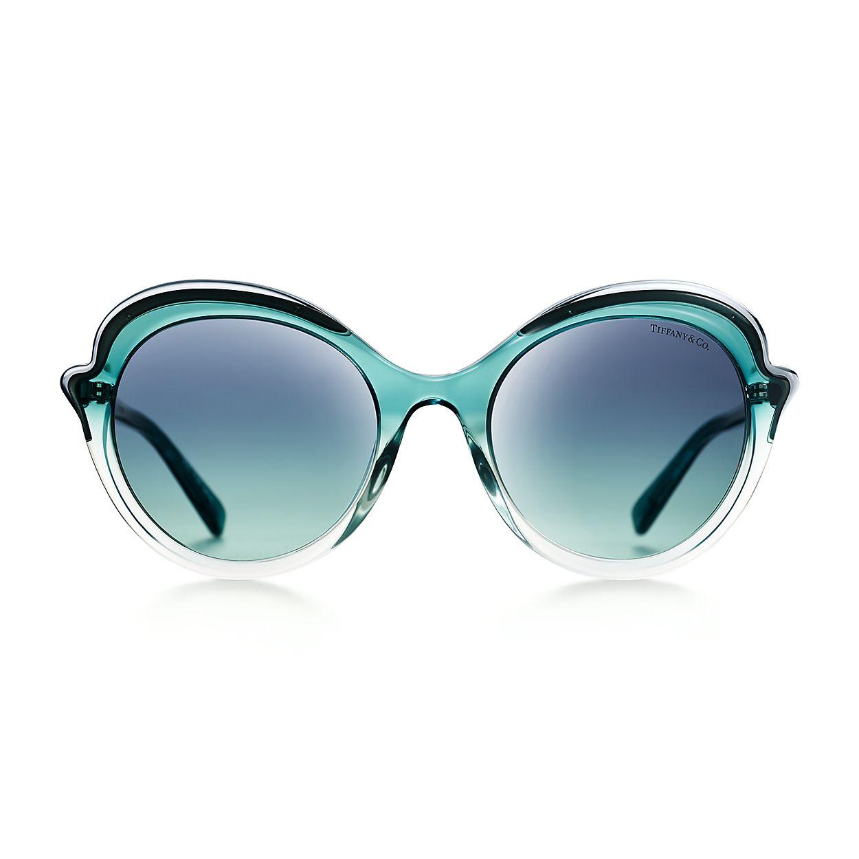 440fb0844 Tiffany Paper Flowers cat eye sunglasses in blue acetate.   Tiffany ...