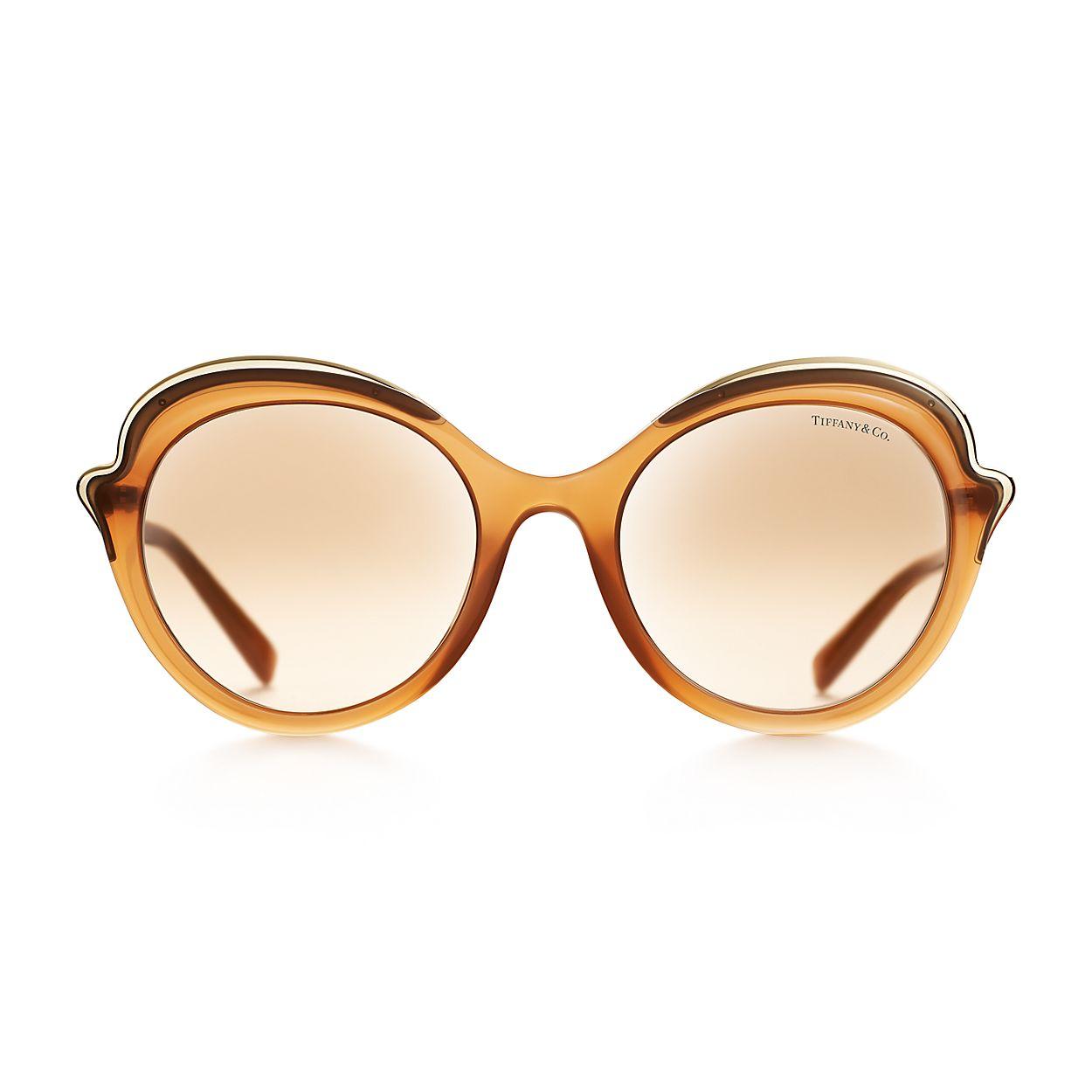 490784c992373 Tiffany Paper Flowers cat eye sunglasses in camel acetate.