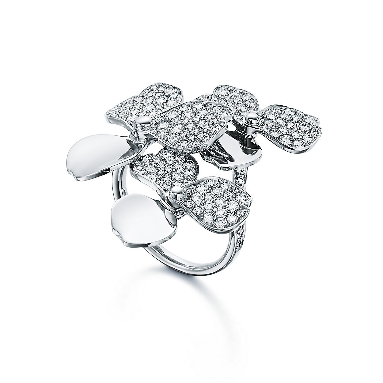 Ring Mit Cluster Diamantbluten