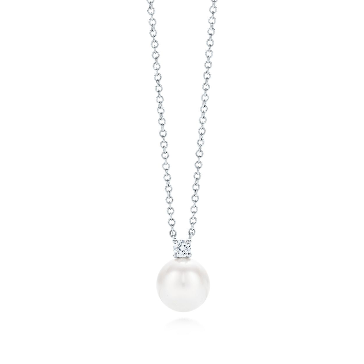 eddb69452 Tiffany Signature® Pearls pendant in 18k white gold with a pearl and ...