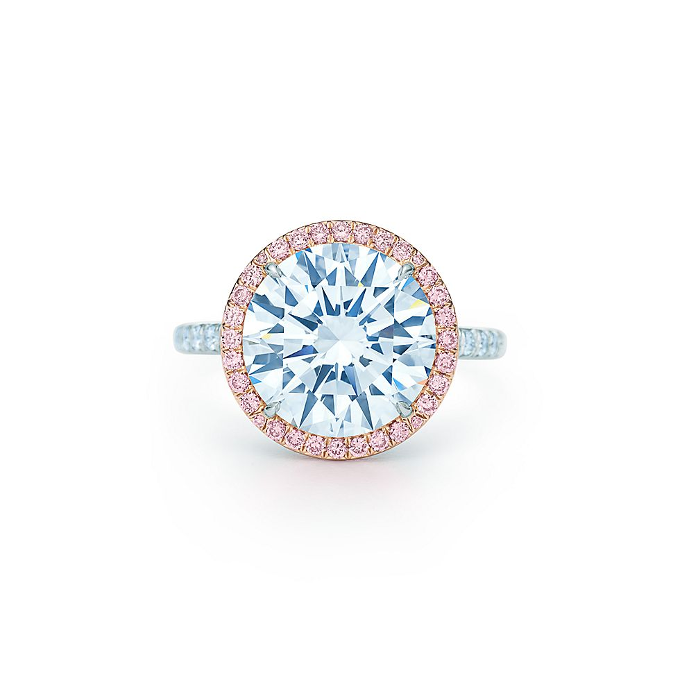 36ad1d0de Tiffany Soleste diamond ring in platinum with white and Fancy Pink diamonds.  | Tiffany & Co.