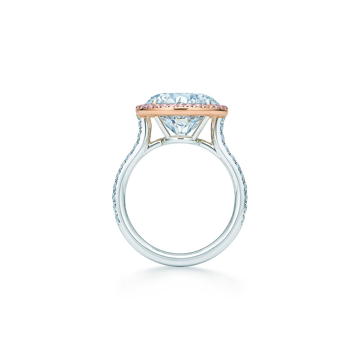 2ed9586e1 Tiffany Soleste diamond ring in platinum with white and Fancy Pink ...