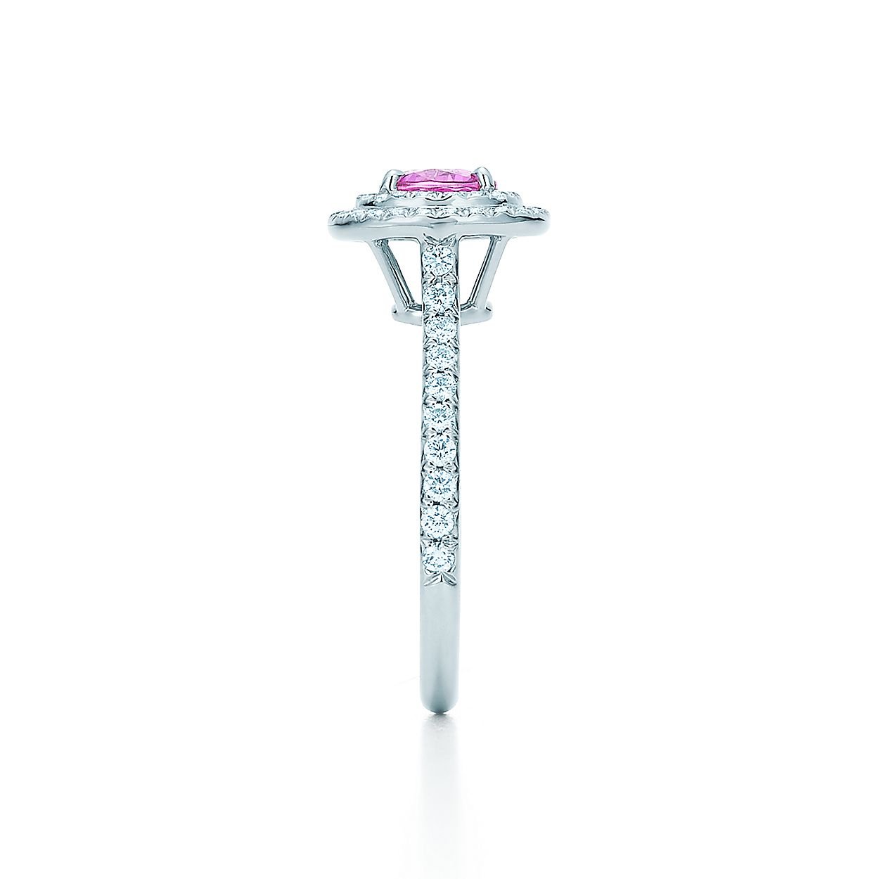 41818fb0f Tiffany Soleste® ring in platinum with a .45-carat pink sapphire and ...