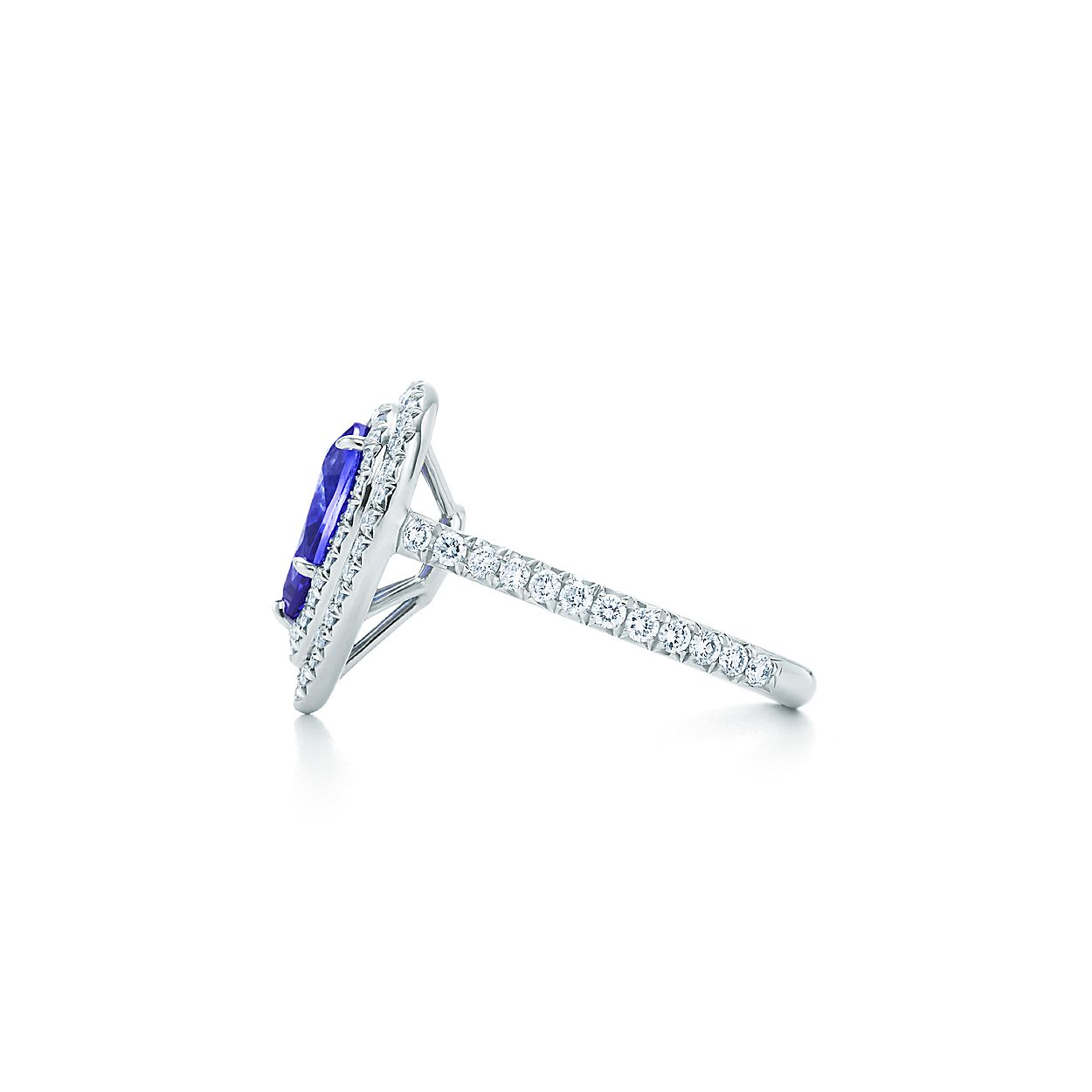 3dc554a9f Tiffany Soleste ring in platinum with diamonds and a tanzanite ...