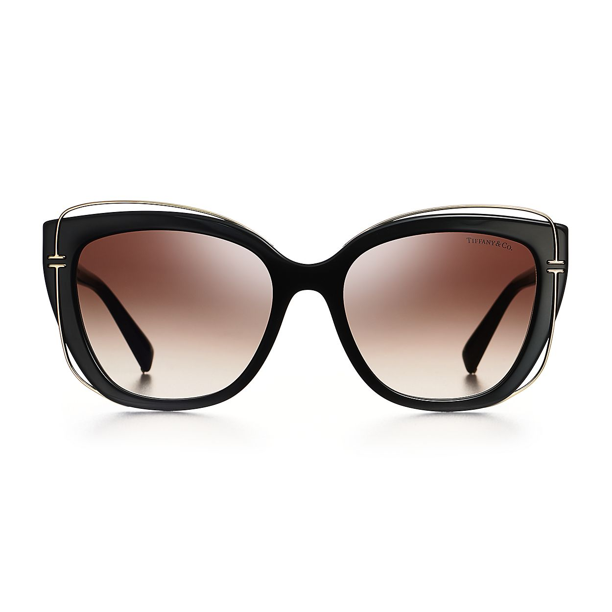 62965be95f Tiffany T round sunglasses in silver-colored metal.