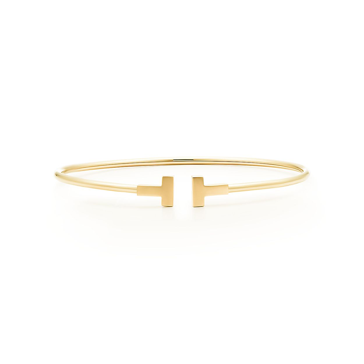 9e5cf9cef19f Tiffany T narrow wire bracelet in 18k gold