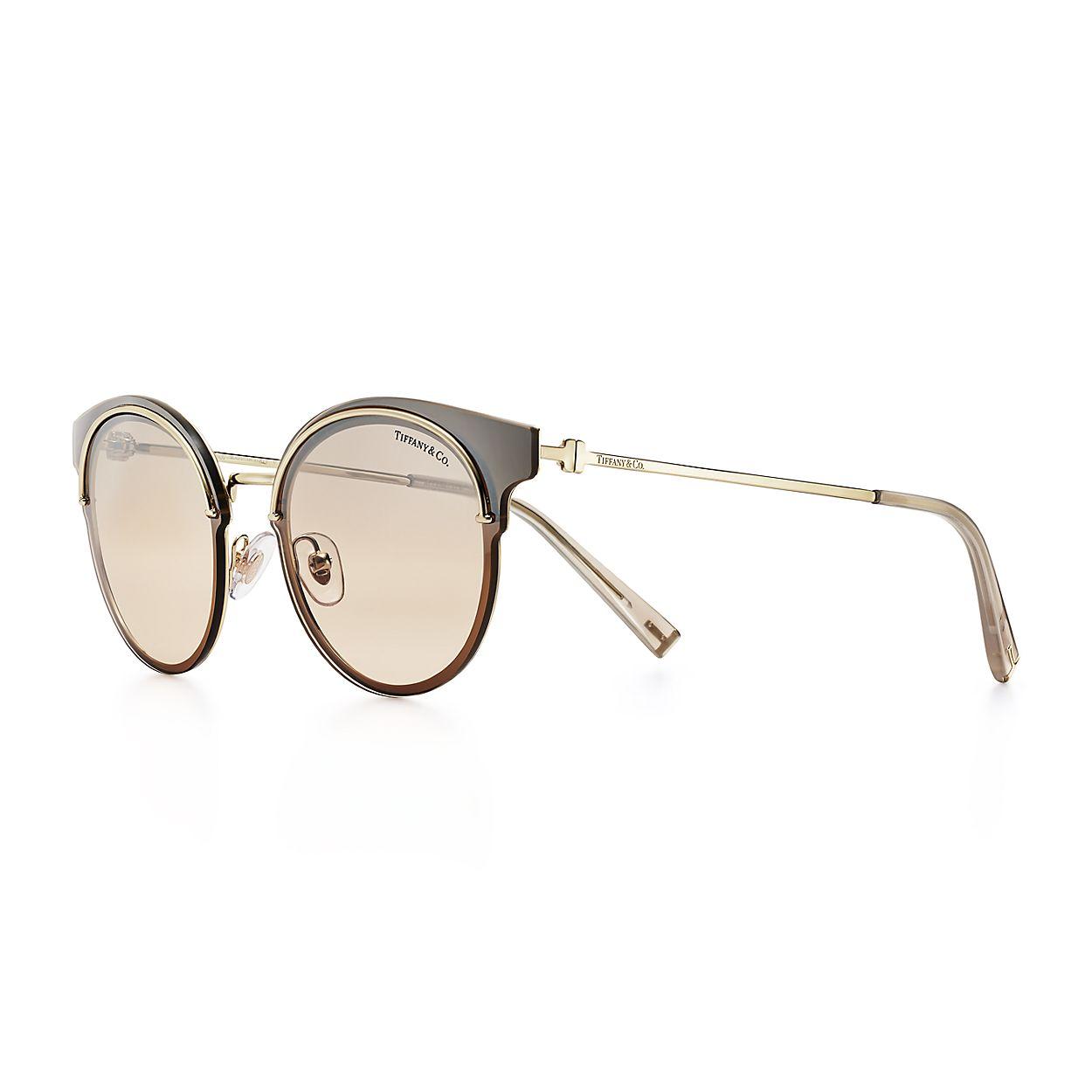 6dfb8ed663 Tiffany T round sunglasses in silver-colored metal.   Tiffany & Co.