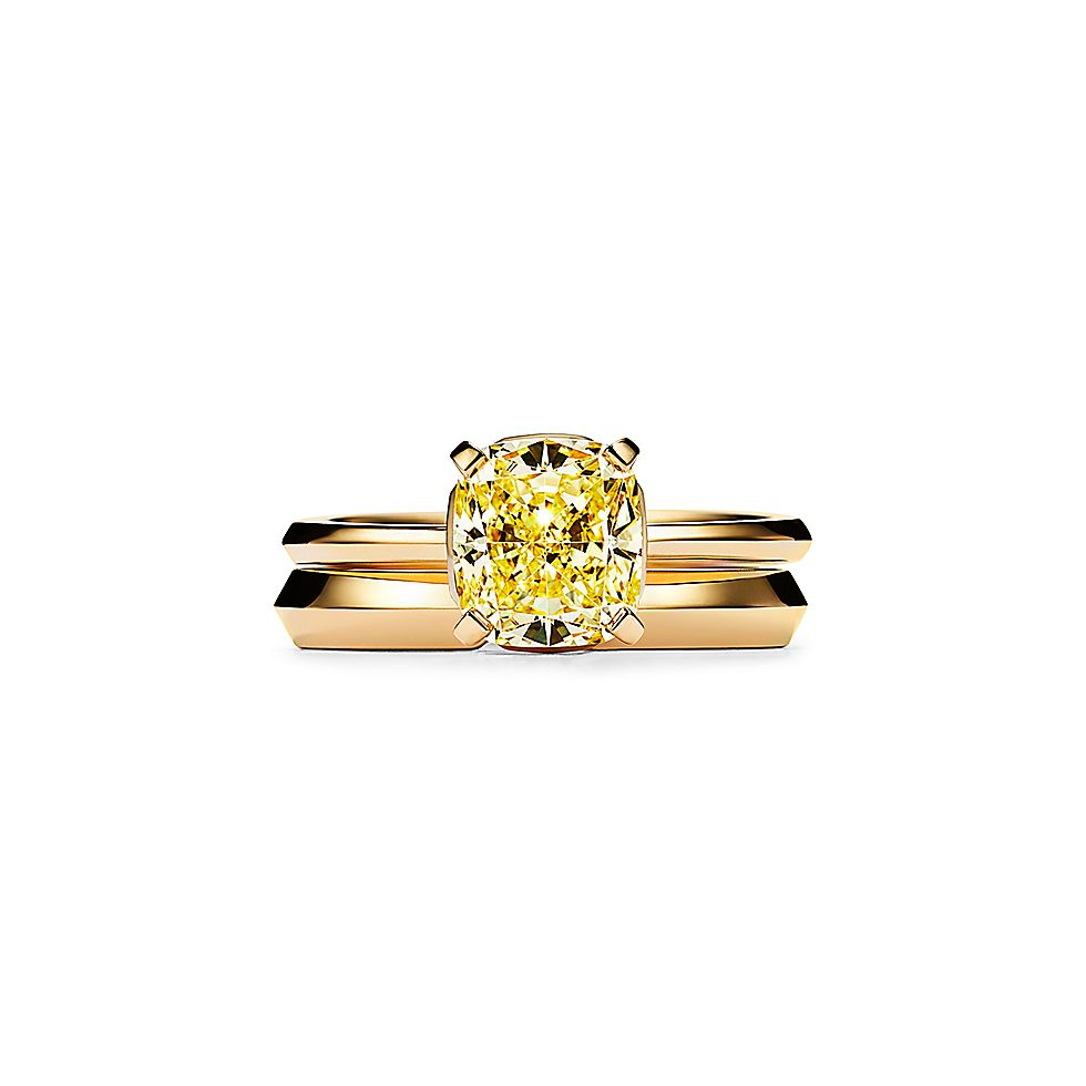 d47799cfa90f26 Tiffany True Engagement Ring with a Cushion-cut Yellow Diamond in 18k Yellow  Gold