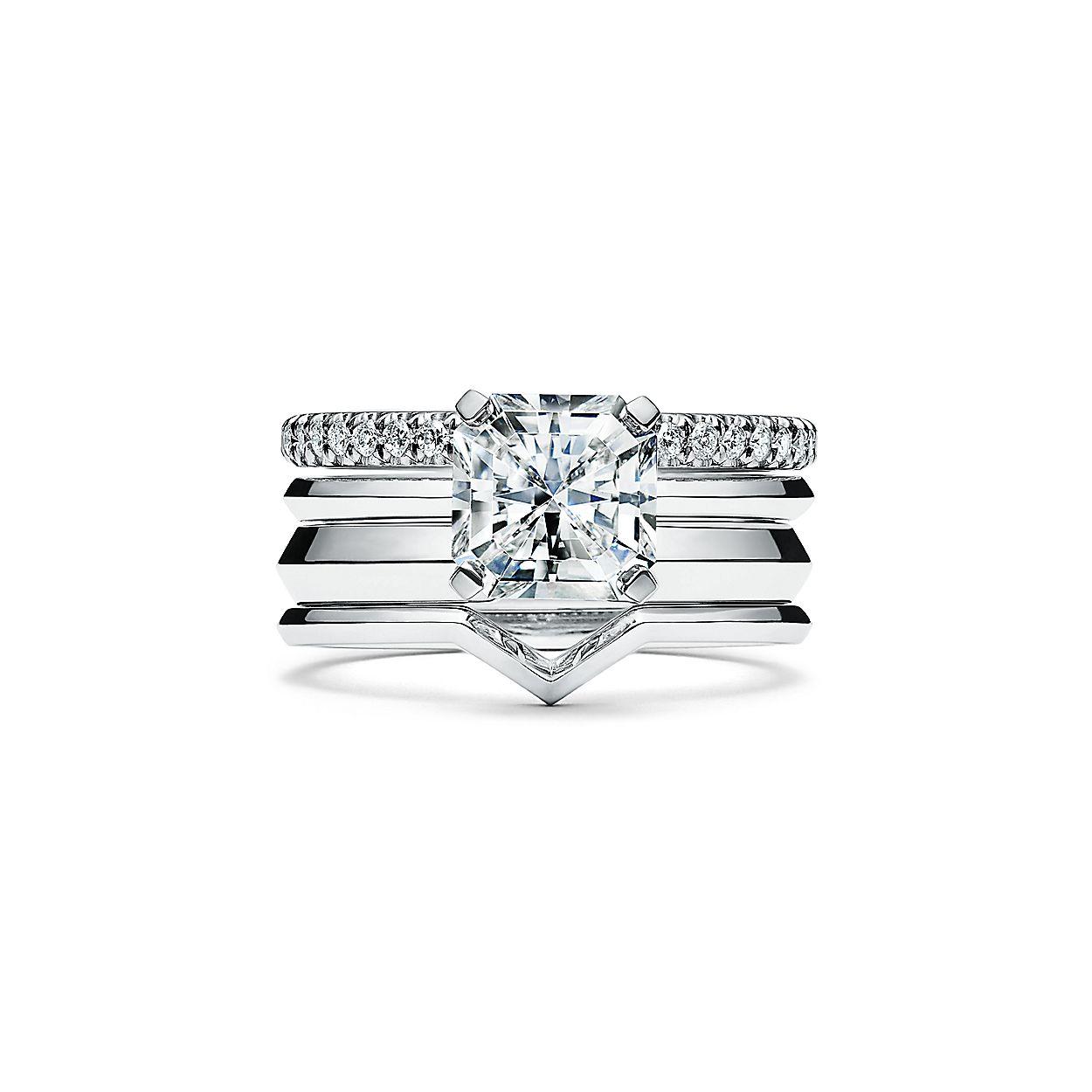 a06df9692 Tiffany True Engagement Ring with a Tiffany True Diamond in Platinum