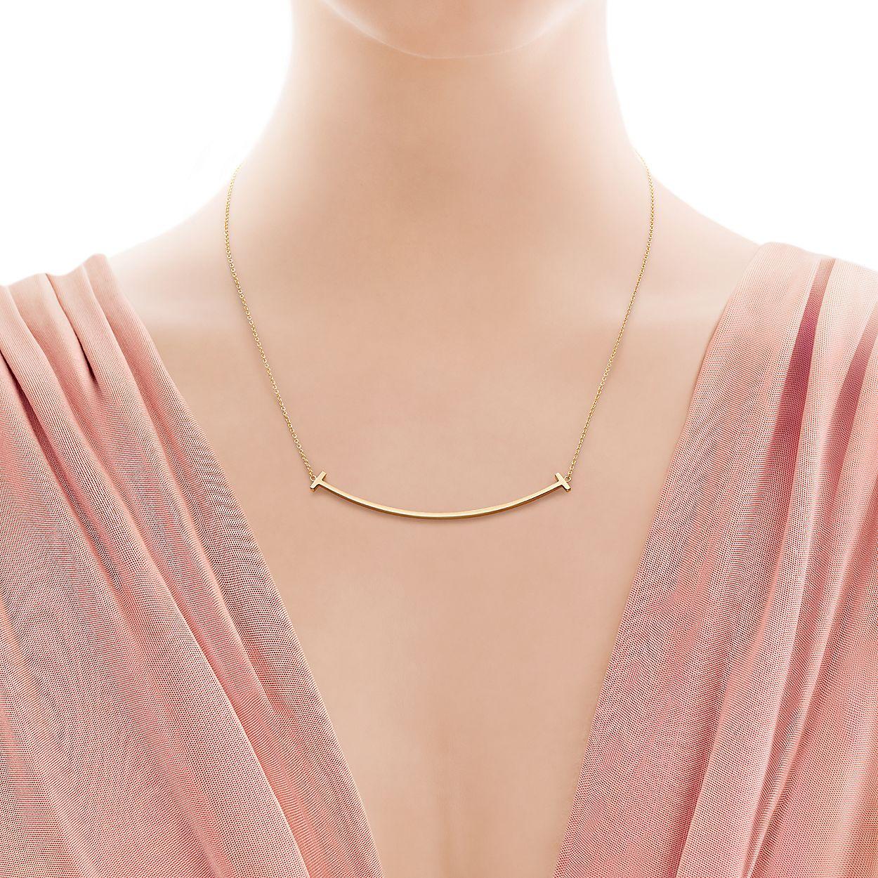 290acf91f 18K Gold Smile Pendant Necklace | Tiffany & Co.