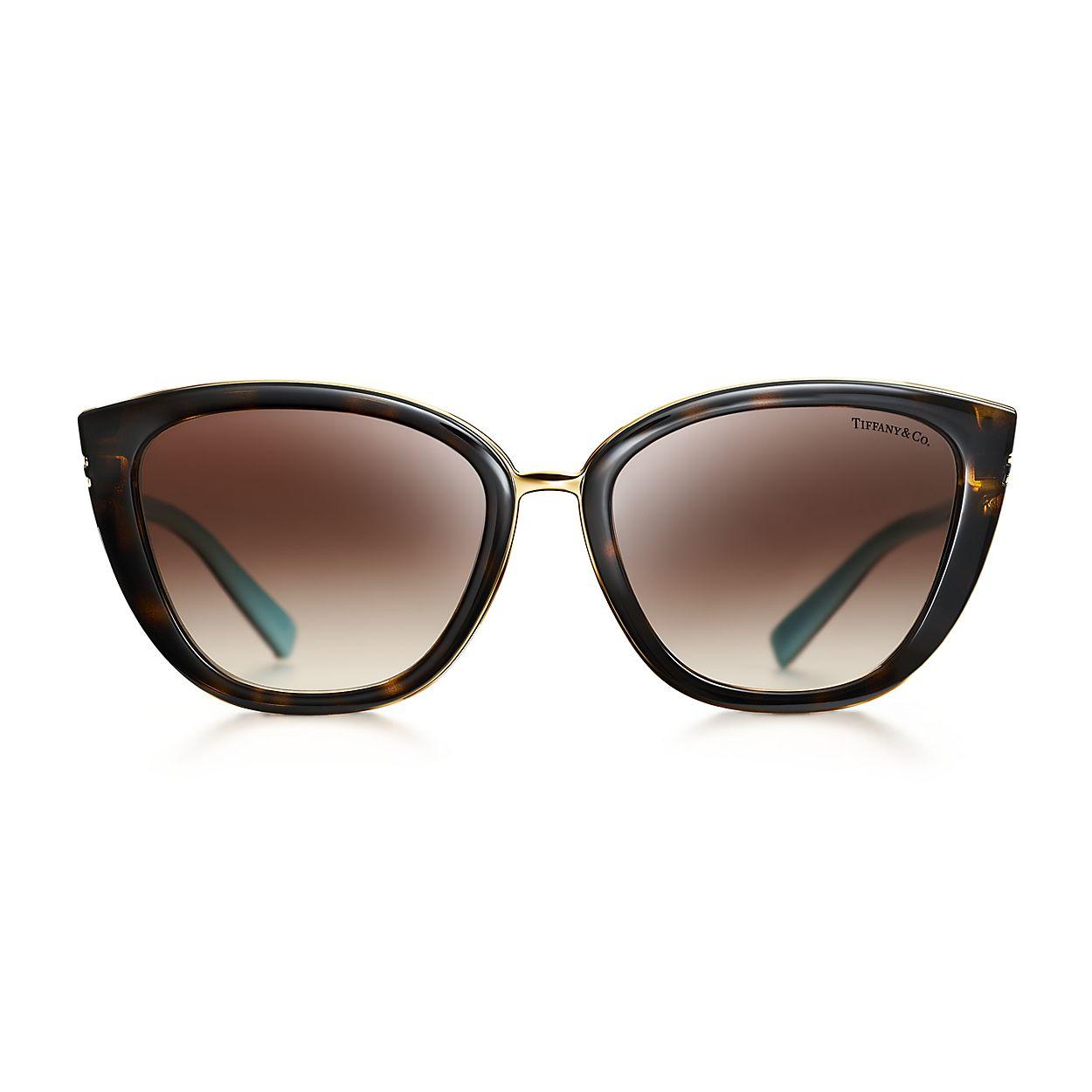 3226fc99ce76 Tiffany T square sunglasses in tortoise acetate.