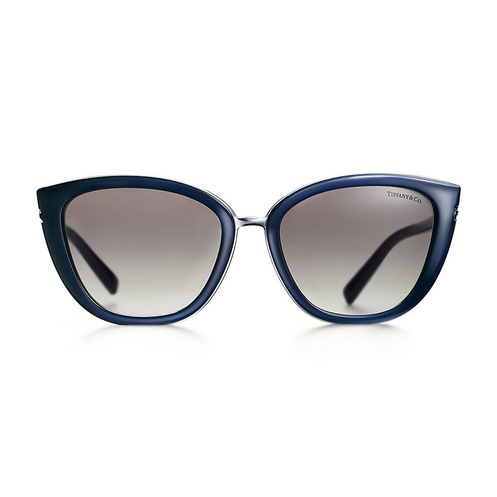 9bc1b60feab8 Tiffany T square sunglasses in opal blue acetate.