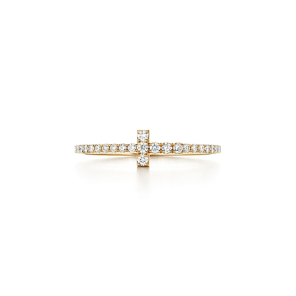 59686fe04 Tiffany T wire ring in 18k gold with diamonds. | Tiffany & Co.