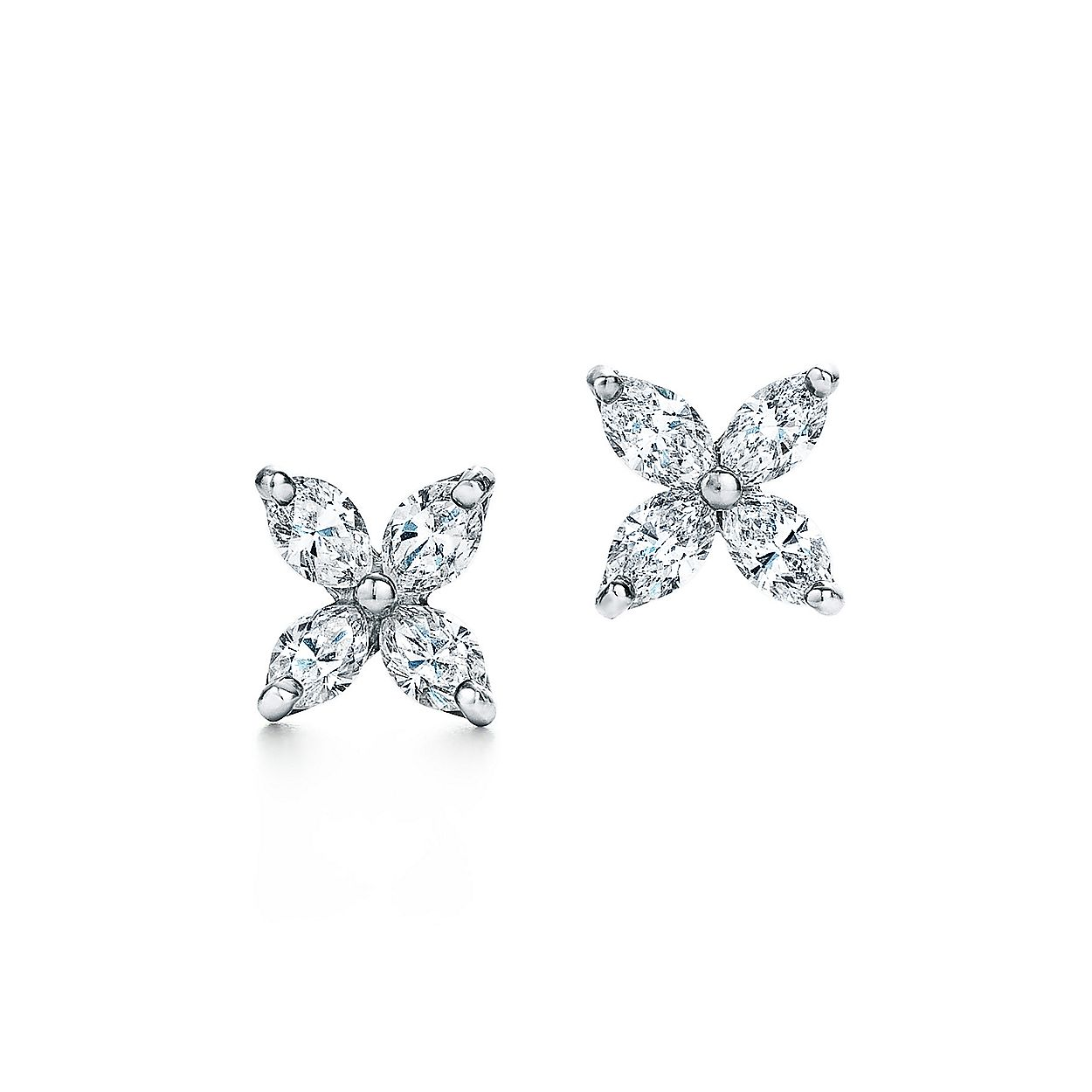 9641a4251 Tiffany Victoria® earrings in platinum with diamonds, small ...