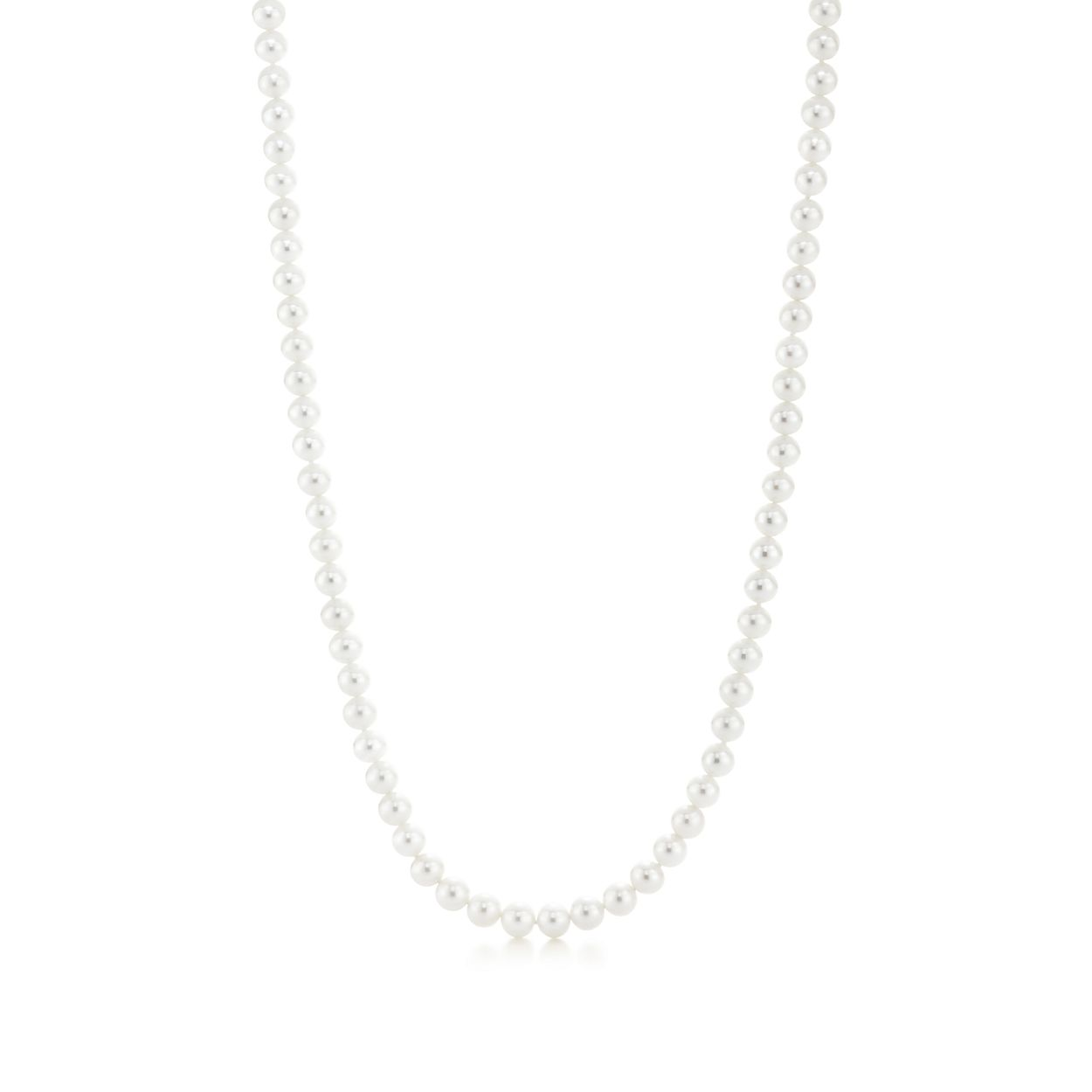 028769193 Ziegfeld Collection pearl necklace with a silver clasp and ...