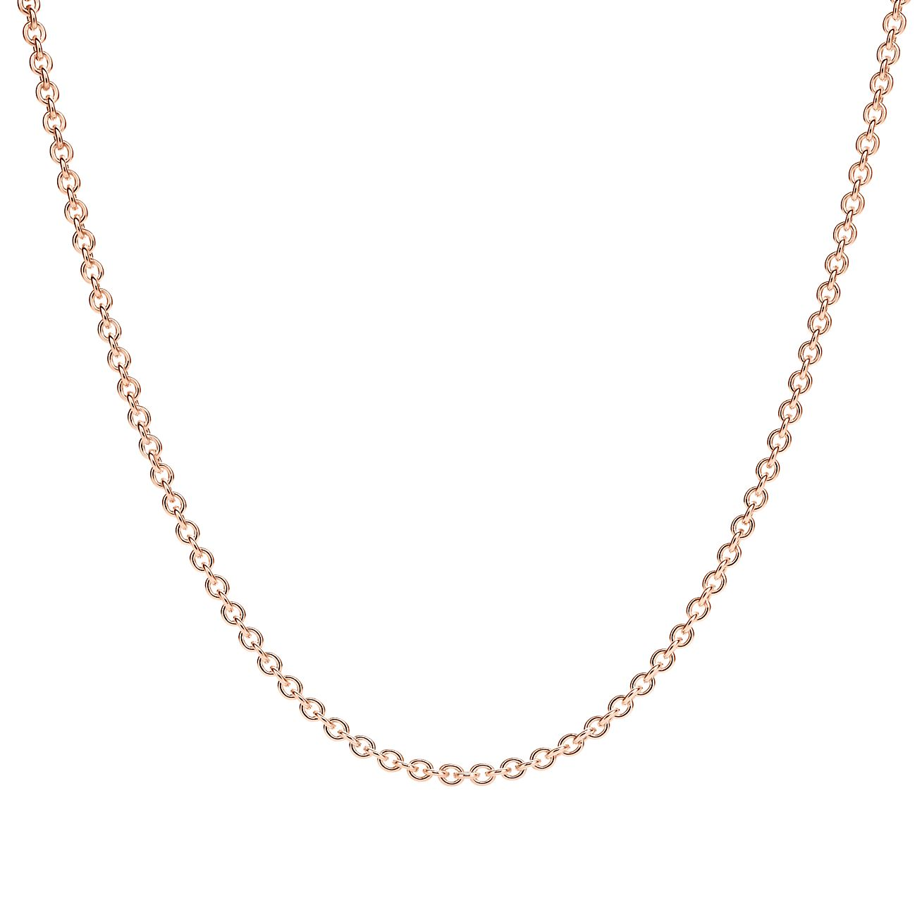 Chain in 18k rose gold 18 long Tiffany Co