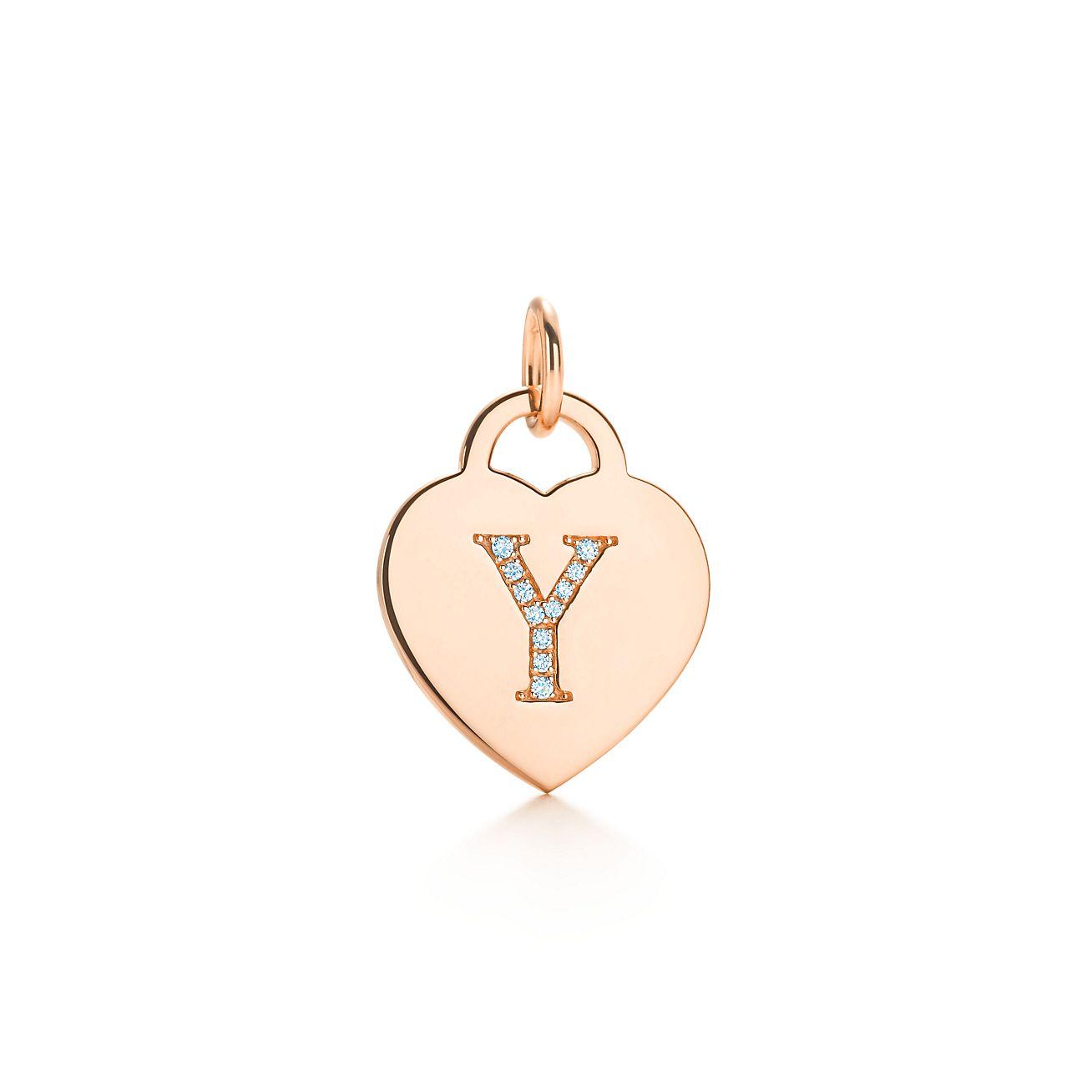 Charme Lettre Alphabet Tag Coeur M En Or Rose 18 Lettres D'or Az Disponible - Taille M Tiffany & Co. Bd2xBeg