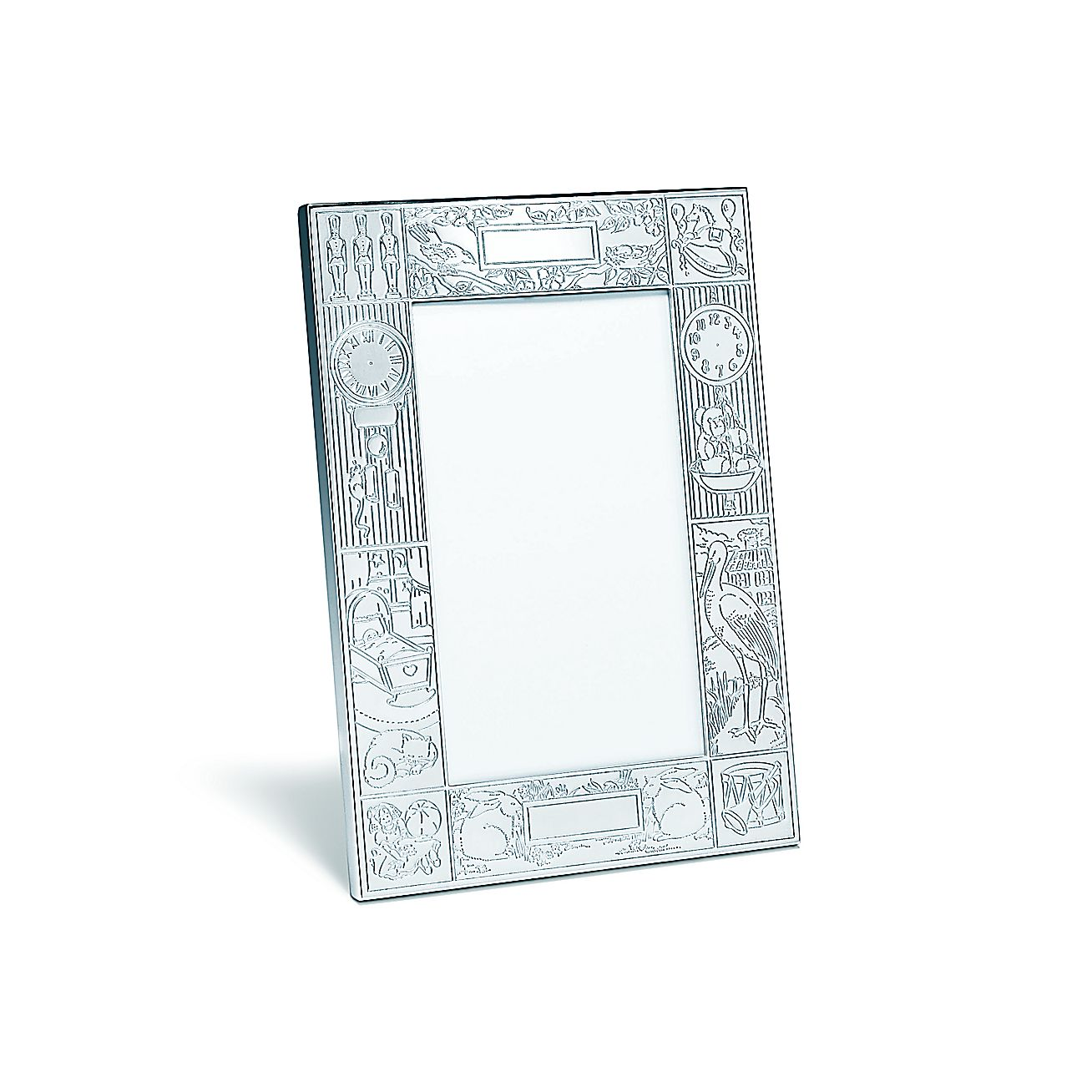 Birth record frame in sterling silver. | Tiffany & Co.