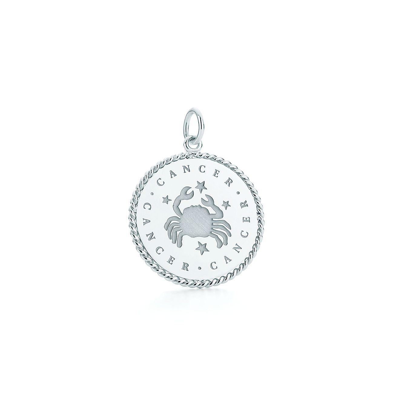 Cancer zodiac charm in sterling silver tiffany co aloadofball Gallery