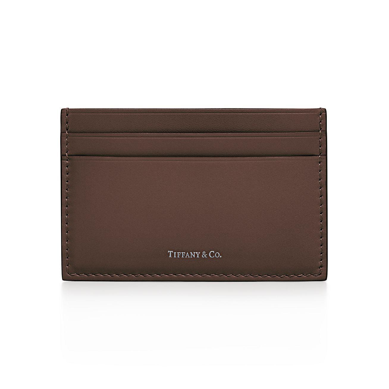 Card case in Tiffany Blue smooth calfskin leather Tiffany & Co. QKYY4