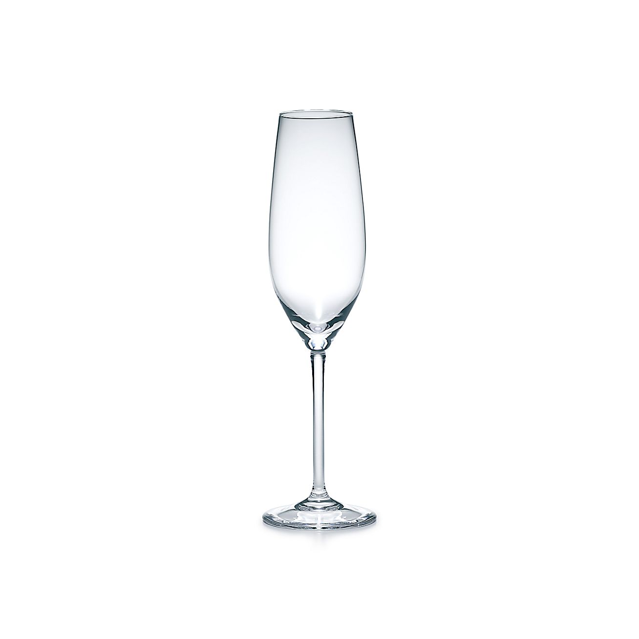 champagne flute in handmade mouth blown crystal tiffany co