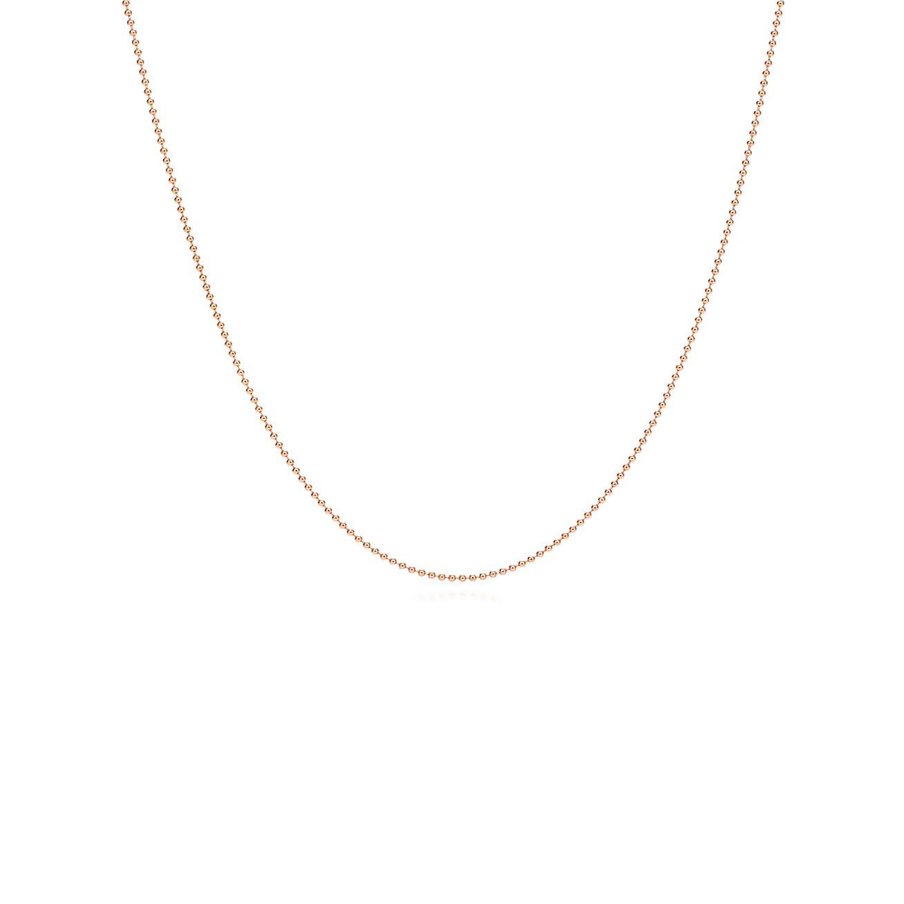 Chaîne de perles fantaisie en or rose 18 carats. Longueur   61 cm ... f9b3f848aa42