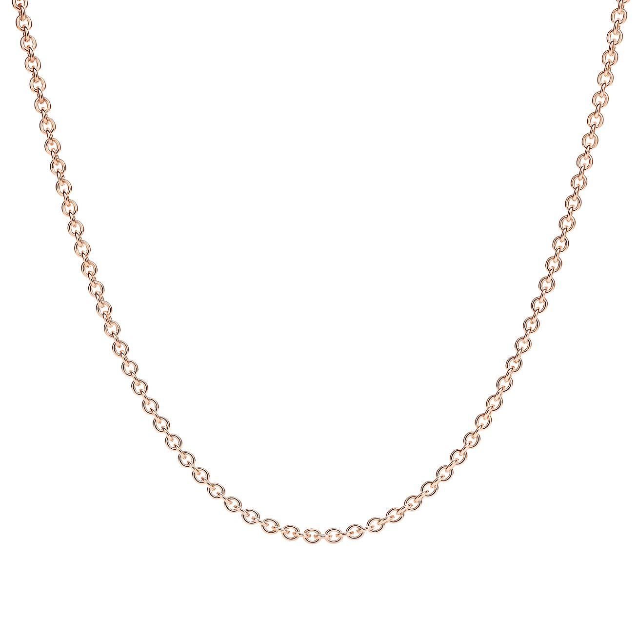Chaîne en or rose 18 carats. Longueur   45,7 cm.   Tiffany   Co. 8834cd07bf94