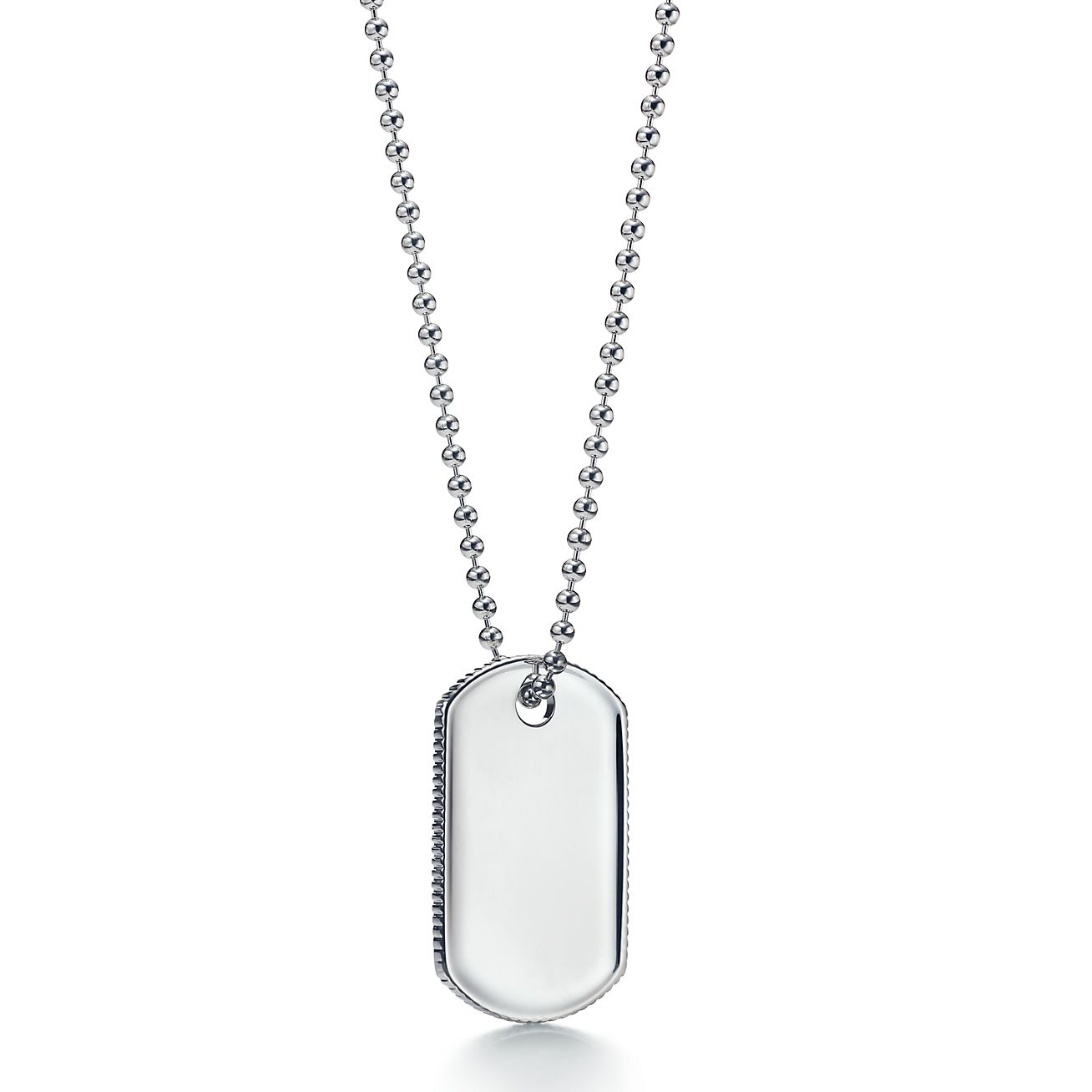 Coin Edge Tag Pendant In Sterling Silver Tiffany Co