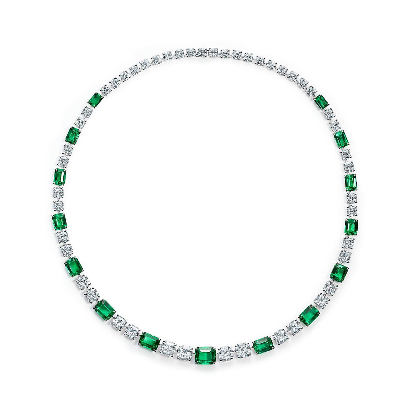 Favorito Collana in platino con smeraldi e diamanti. | Tiffany & Co. LT77