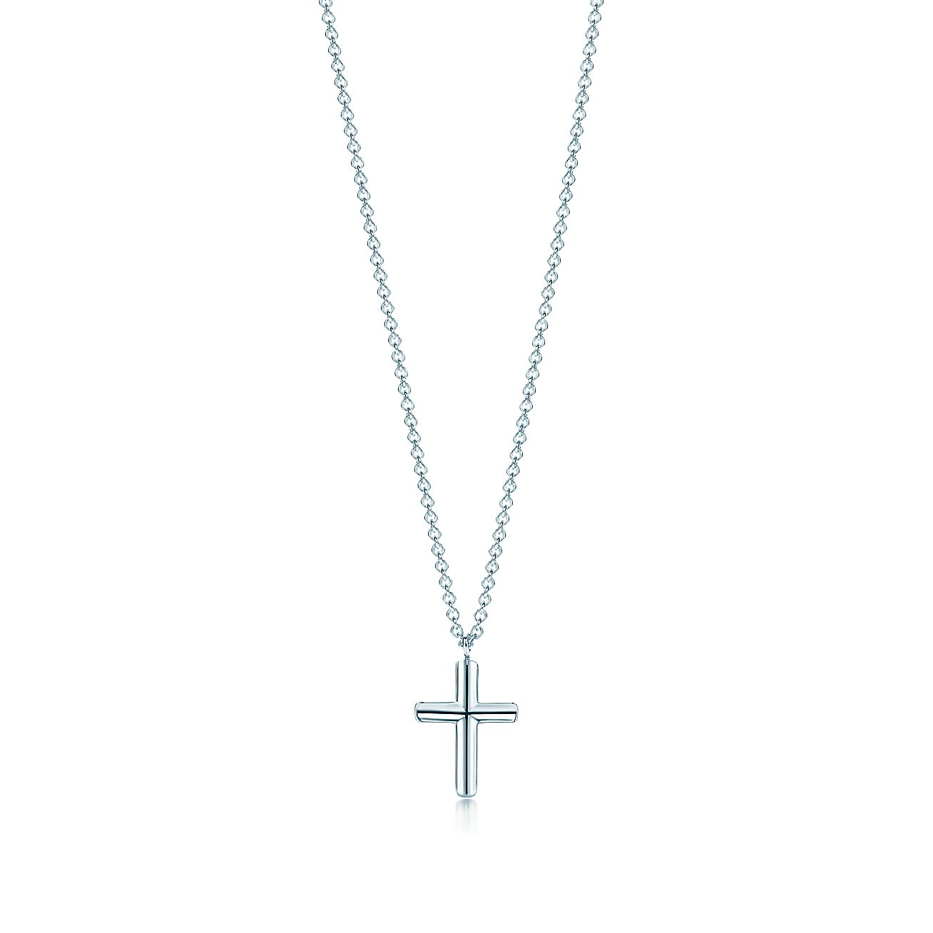 Shop sterling silver concave cross pendant necklace tiffany co aloadofball Choice Image