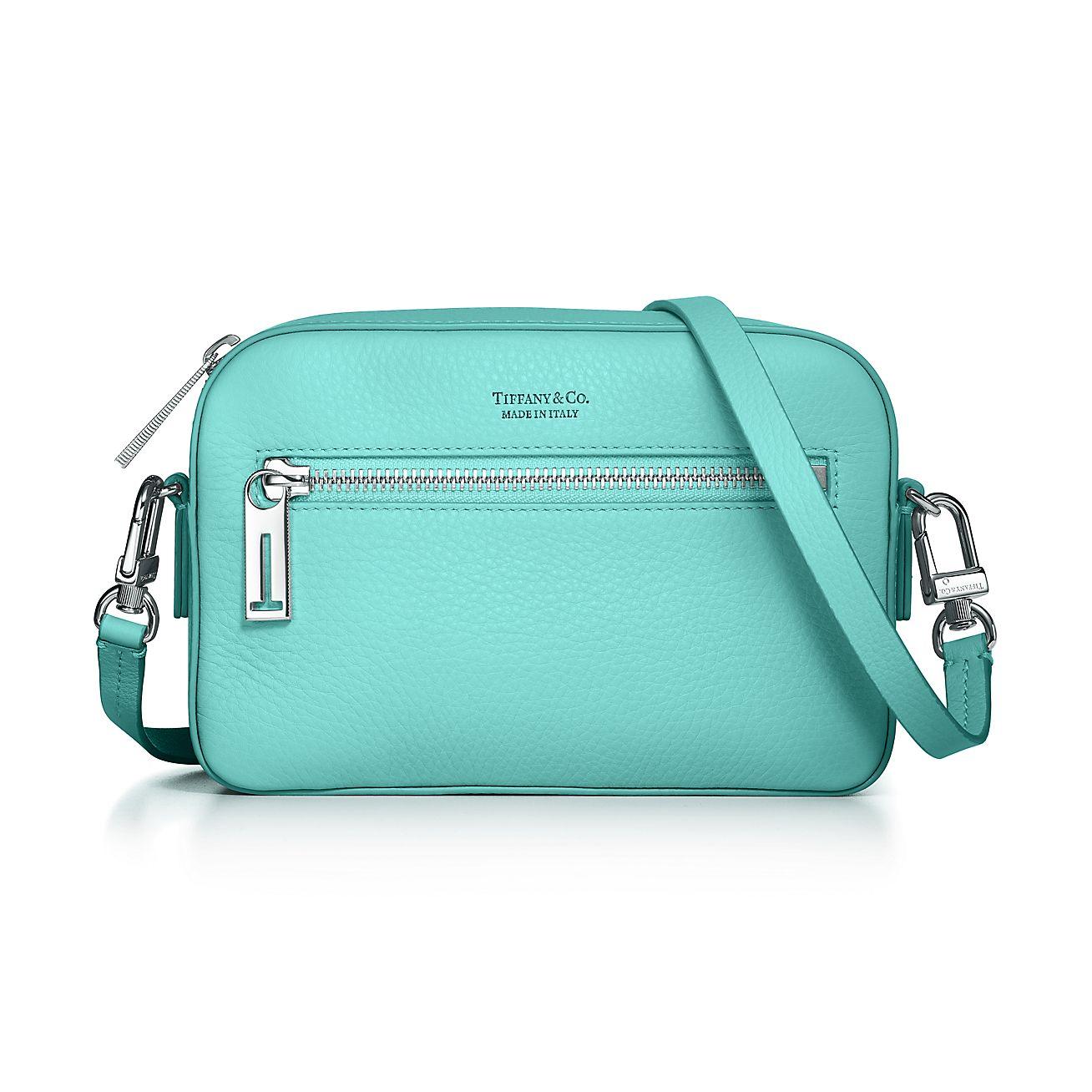 Crossbody Bag In Tiffany Blue Grain