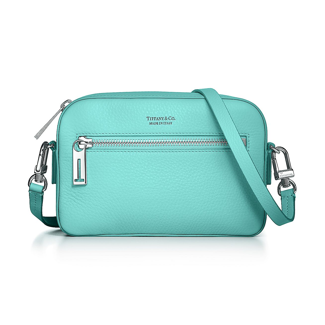 Crossbody Bag In Tiffany Blue Grain