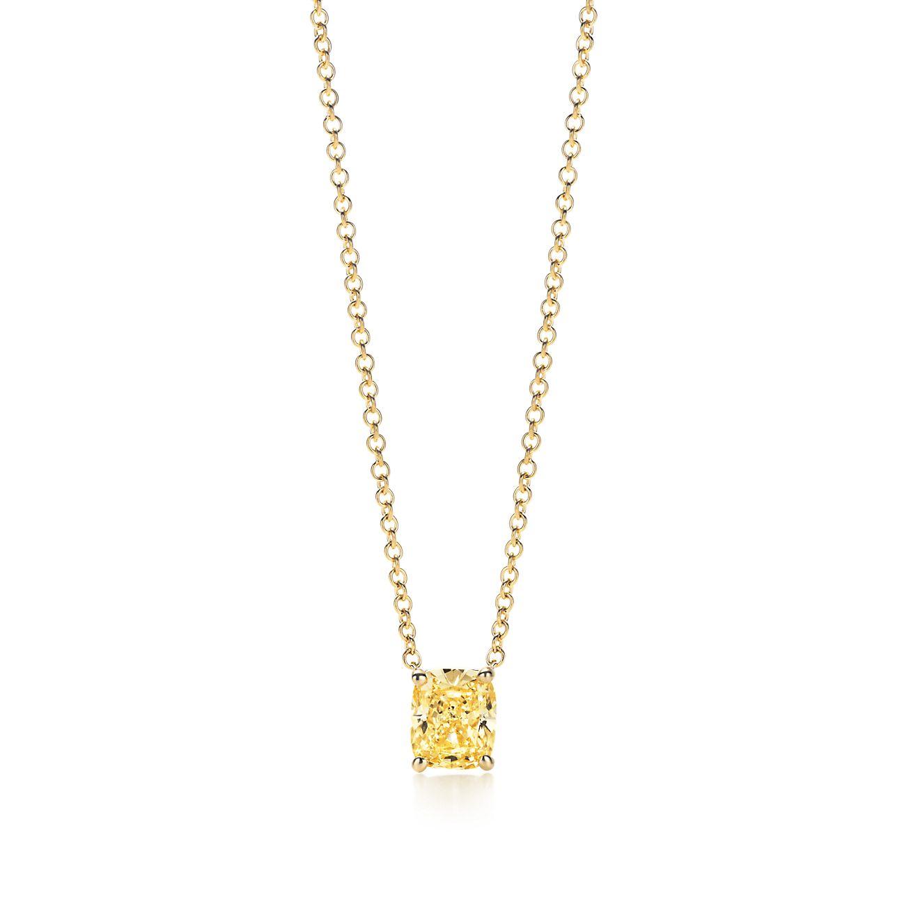 Tiffany Cushion Cut Yellow Diamond Pendant Tiffany Co