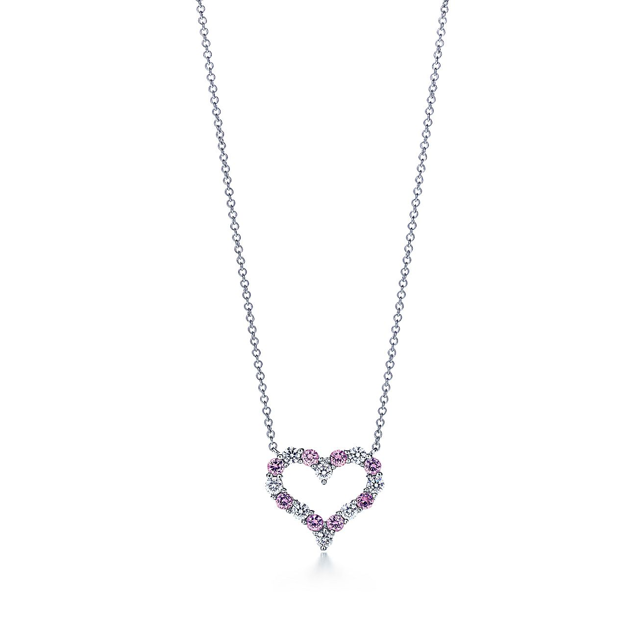 necklace and small sapphire platinum tiffany sapphires co pendants ed pendant with in pink necklaces heart diamonds jewelry m diamond