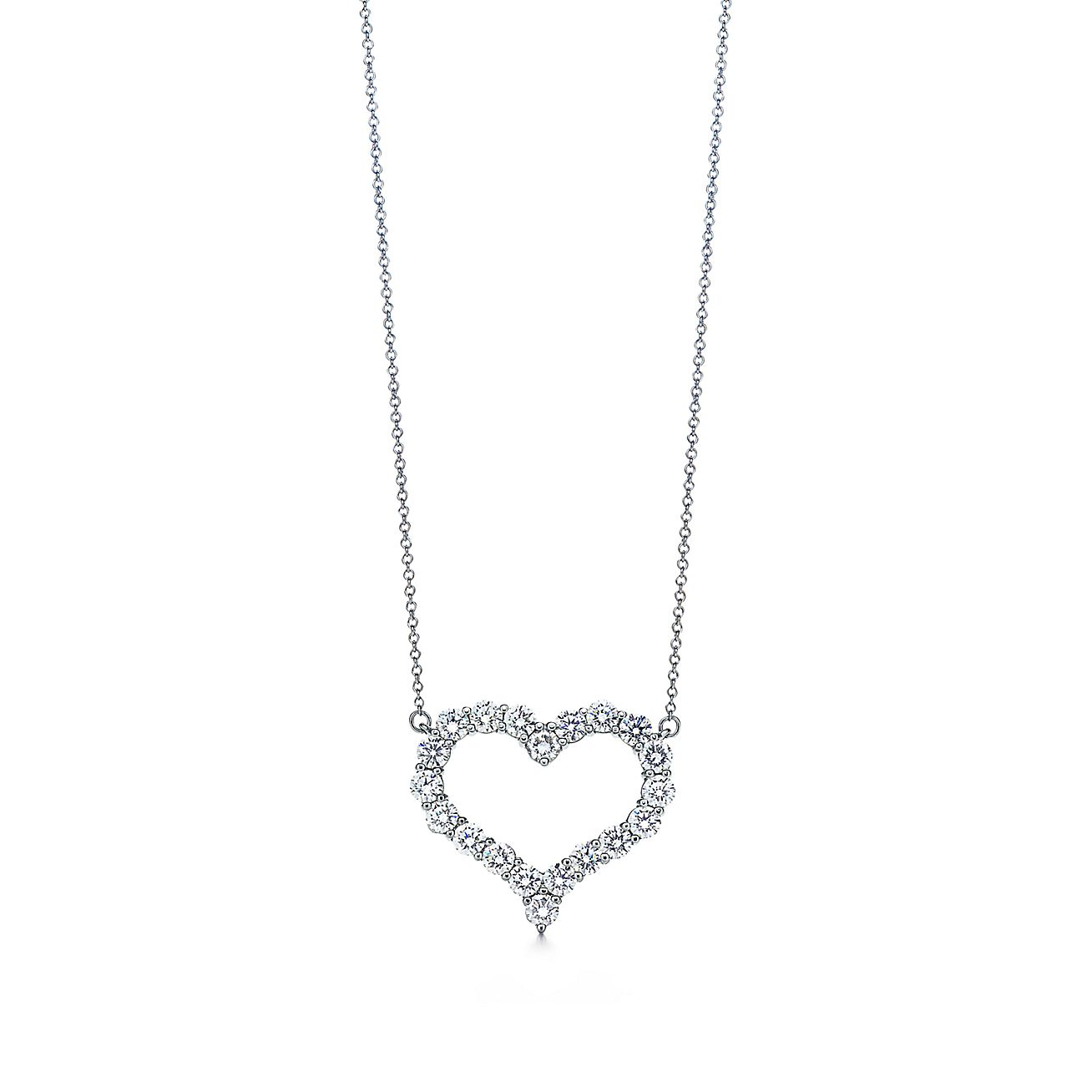 Pendant in platinum with diamonds large tiffany co aloadofball Choice Image