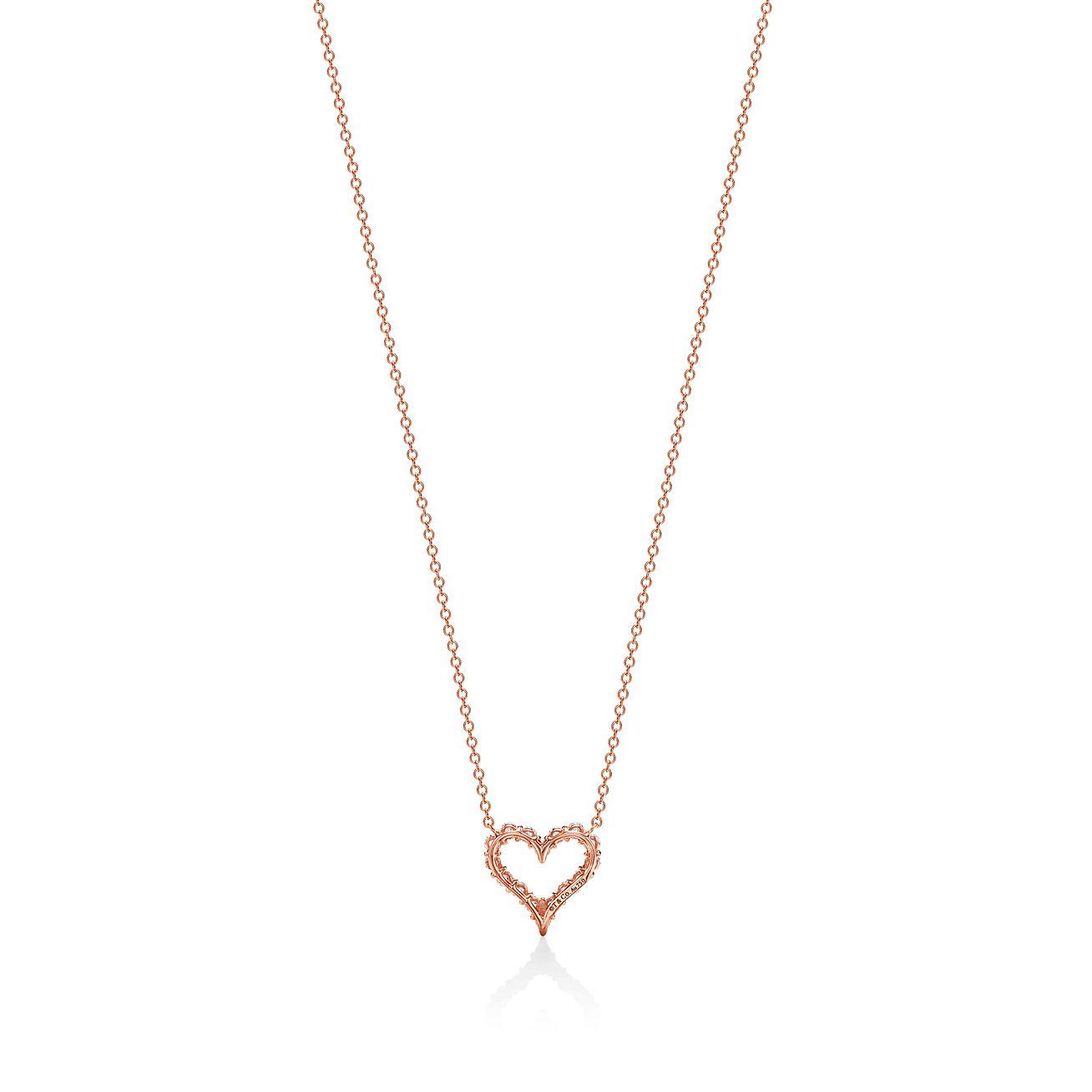 Tiny Diamond Heart Necklace  Mini Diamond Hear Pendant in 14k Gold  Diamond Heart Necklace Micro Pave Setting .10ctw