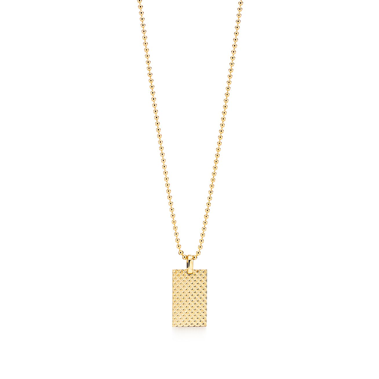 Diamond Point Rectangle Pendant In 18k Gold Tiffany Co