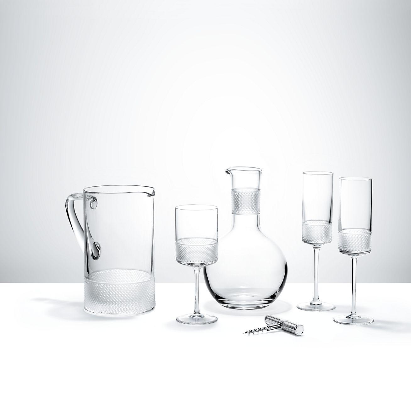 Diamond Point Wine Glass