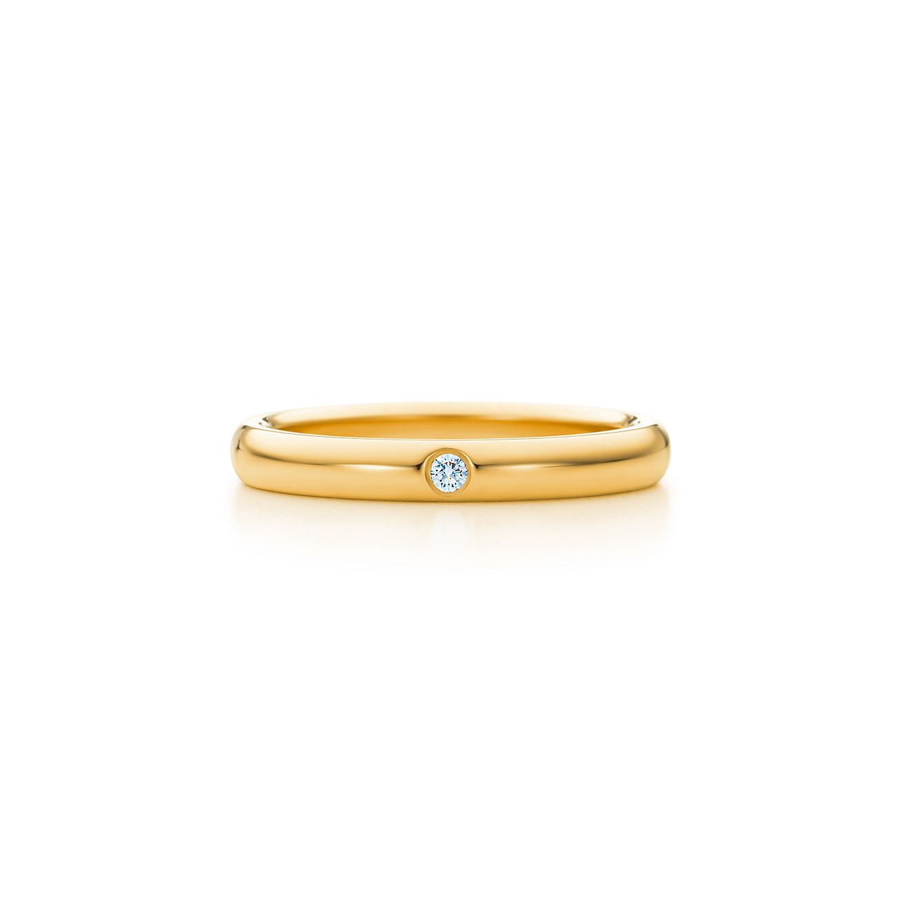 Elsa Peretti wedding band ring with diamonds in 18k gold - Size 4 1/2 Tiffany & Co.