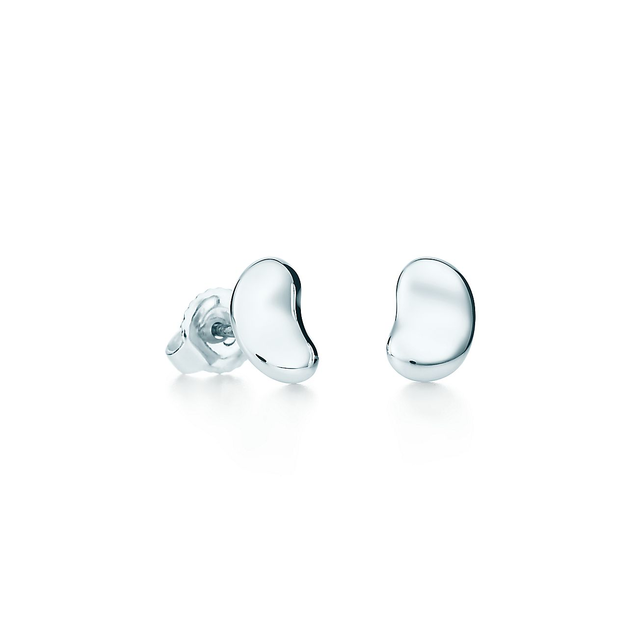 Elsa Peretti Bean Design Earrings In Sterling Silver Tiffany Co
